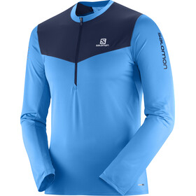 Salomon Fast Wing Running Shirt longsleeve Men blue/black